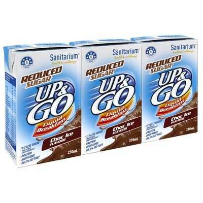 Sanitarium Up&go Reduced Sugar Liquid Breakfast Choc Ice