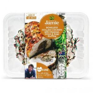 Created With Jamie Boneless Rolled Chicken With Chestnut, Onion & Sage