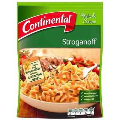 Continental Pasta & Sauce Stroganoff