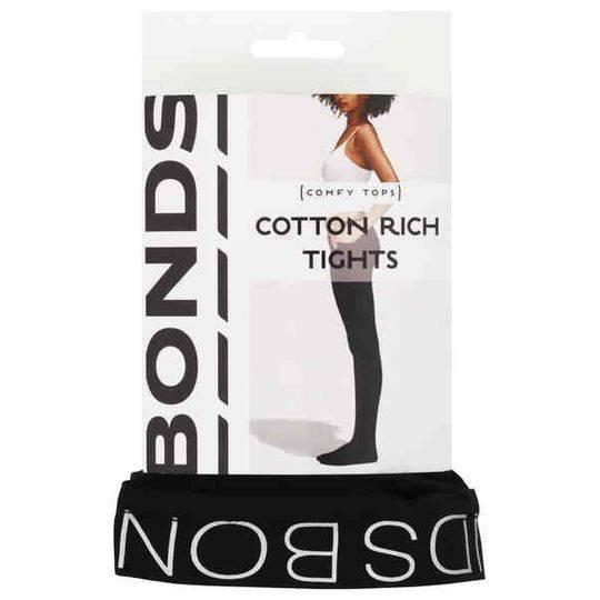 Bonds Comfy Tops Cotton Rich Tights Black Tl-xt