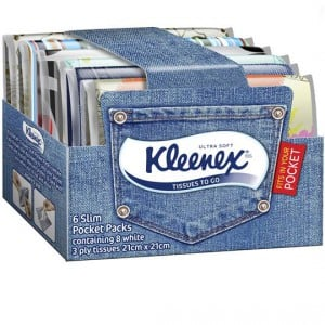 Kleenex To Go Facial Tissues Slim Pack