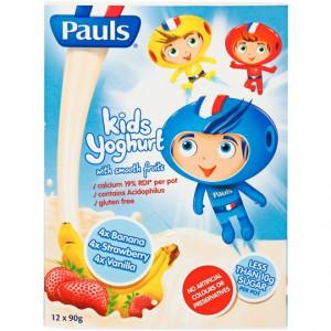 Pauls Spaceboy Vanilla Strawberry Banana Yoghurt