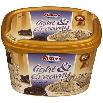 Peters Light & Creamy Ice Cream Cookies & Cream