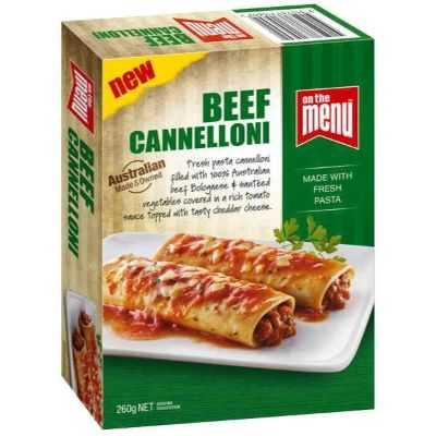 On The Menu Beef Cannelloni