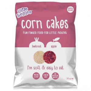Little Bellies Beetroot & Apple Corn Cakes 12m+