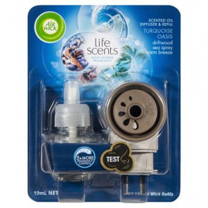 Air wick life scents turquoise oasis plug in diffuser for Airwick plug in scents