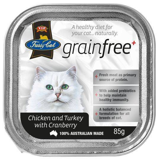 Vip Fussy Cat Grain Free Chicken & Turckey With Cranberry Cat Food