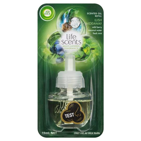 Air wick life scents lush hideaway plug in refill ratings for Airwick plug in scents