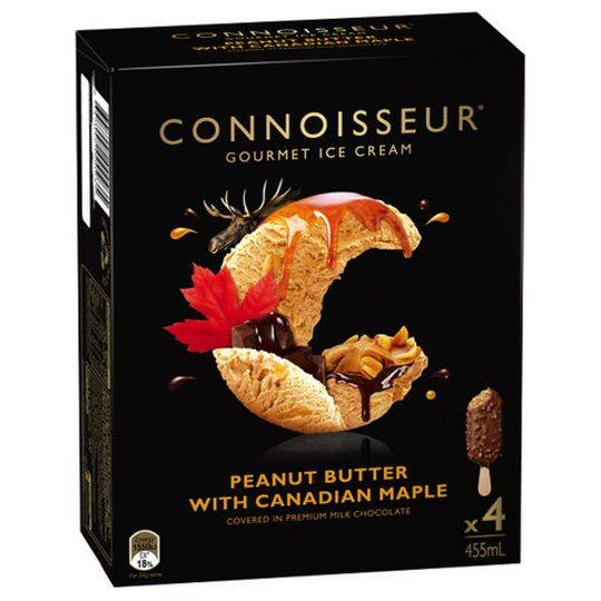 Connoisseur Ice Cream Maple Peanut Butter