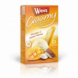 Weis Frozen Yoghurt Mango & Toasted Coconut