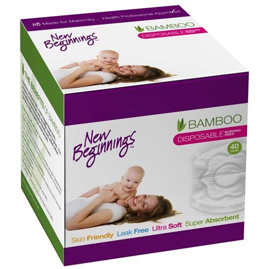 New Beginnings Bamboo Disposable Nursing Pads