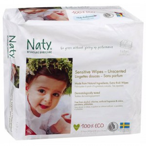 Naty By Nature Babycare Eco Sensitive Wipes Unscented Triple Pack