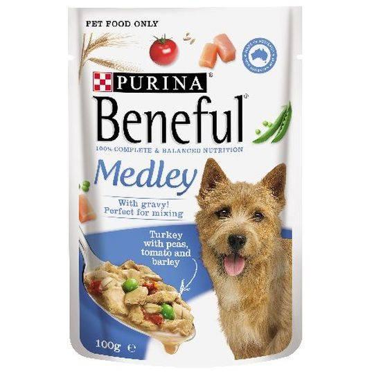 Beneful Turkey Medley Pouch