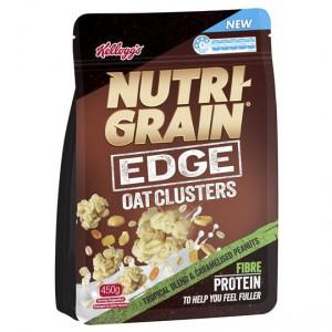 Nutri-grain Edge Oat Clusters Tropical Blend & Peanuts
