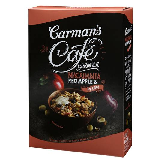 Carman's Cafe Granola Macadamia, Apple & Plum