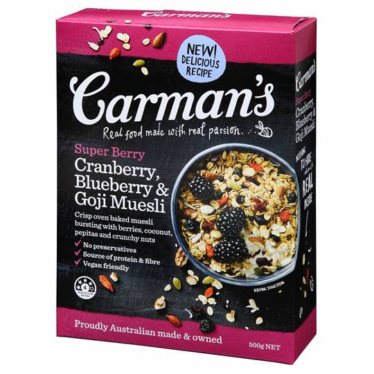 Carman's Super Berry Museli