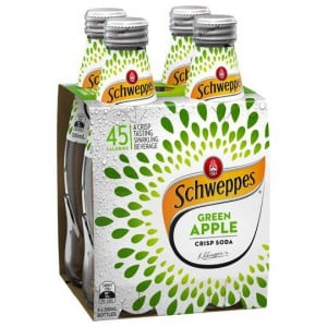 Schweppes Crisp Soda Green Apple