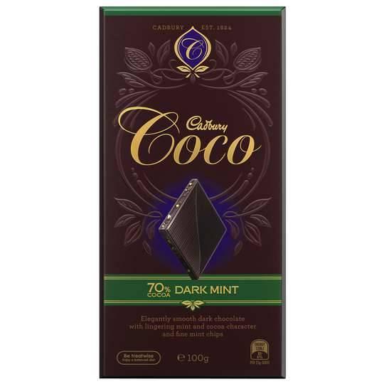 Cadbury Coco Dark Chocolate 70% Dark Mint
