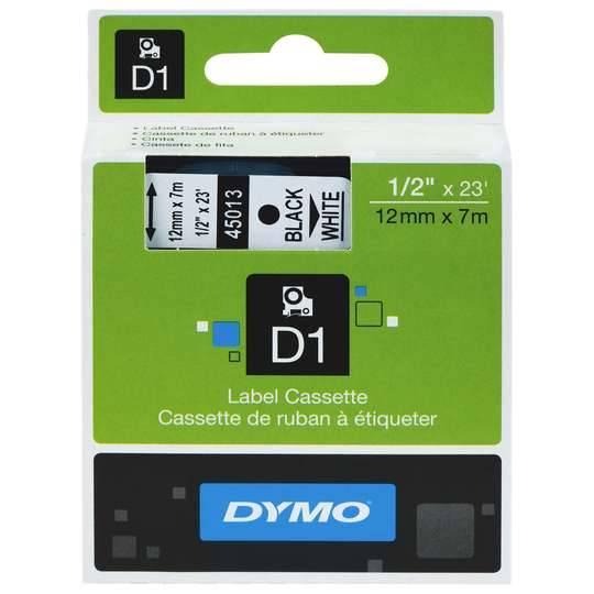 D1 Casette Tape Label Black And White