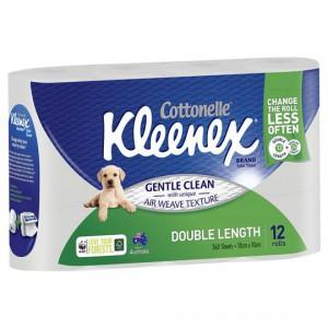 Kleenex Cottonelle Toilet Tissue Double Length