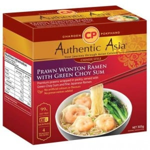 Authentic Asia Prawn Wonton Ramen With Green Choy Sum