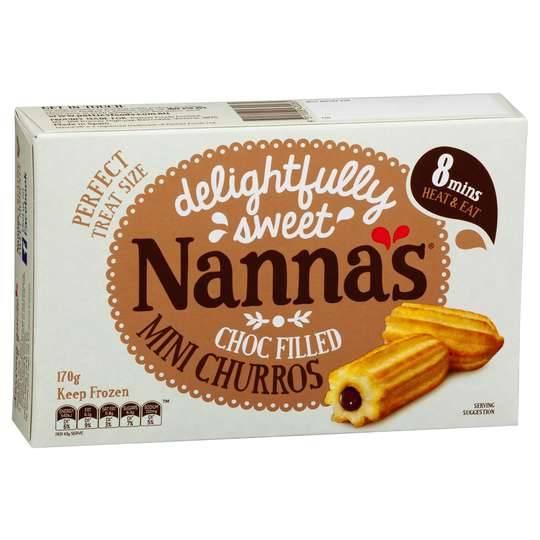 Nannas Mini Choc Hazelnut Filled Churros