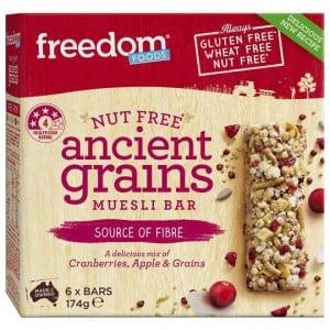 Freedom Foods Ancient Grains Muesli Bar 6pk