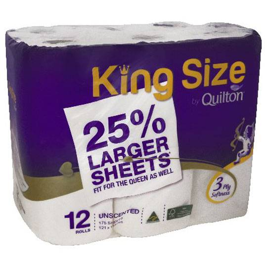 Quilton Toilet Tissue King Size Unscented 3ply Ratings