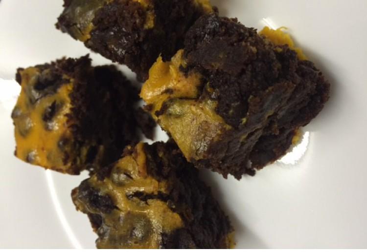 Cheats pumpkin and chocolate brownie