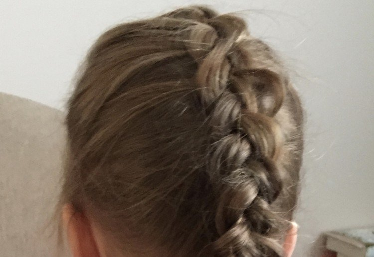 """French """"inside out"""" braid"""