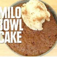 How to make a 3 minute microwave Milo bowl cake!