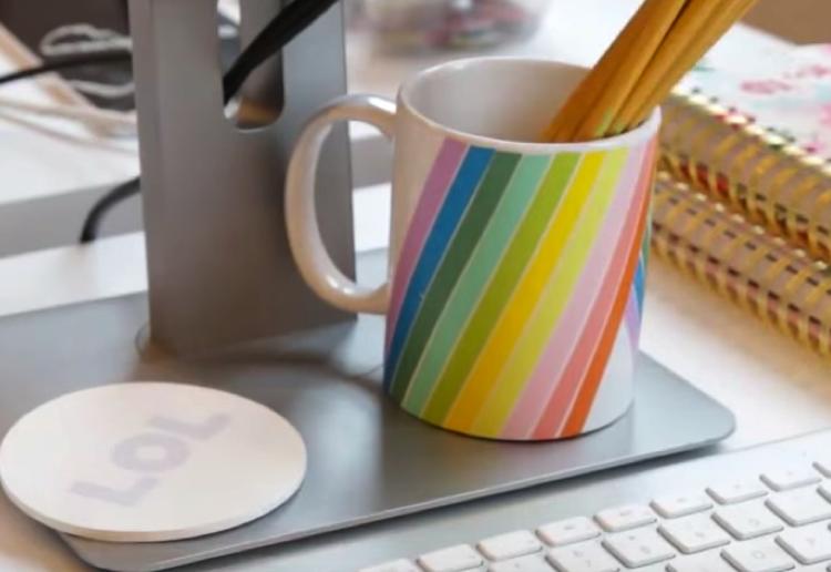 How to make dishwasher safe washi tape decorated mugs
