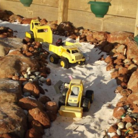 How to make a truck play space for the kids in your backyard