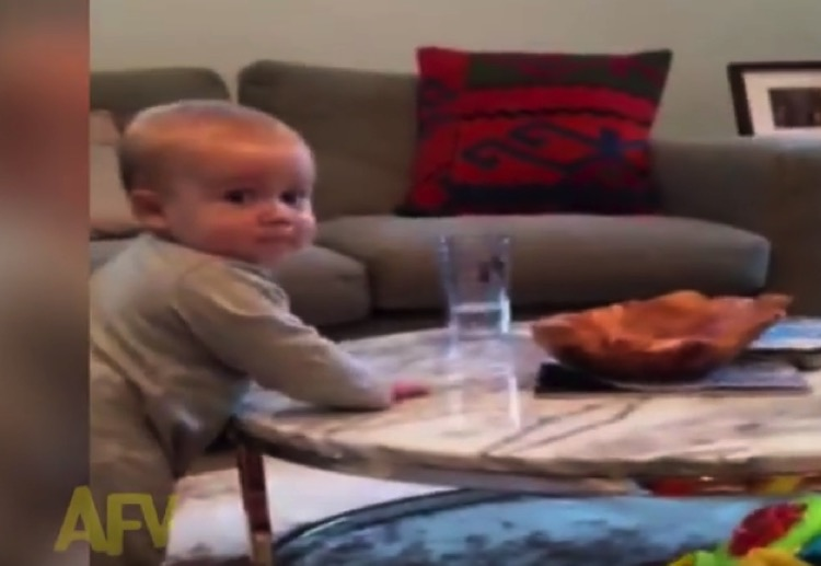 FUNNY VIDEO: Cheeky baby does NOT want to listen to mum!
