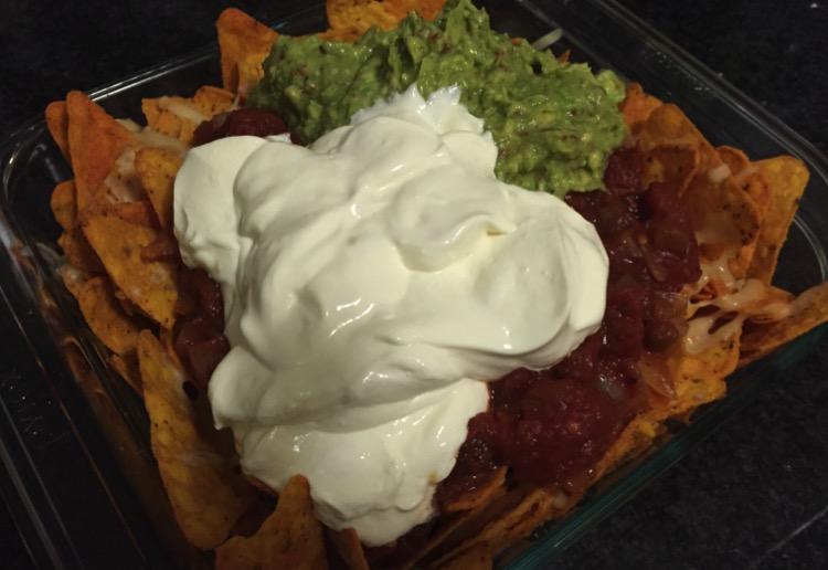 Lactose-free beef nachos