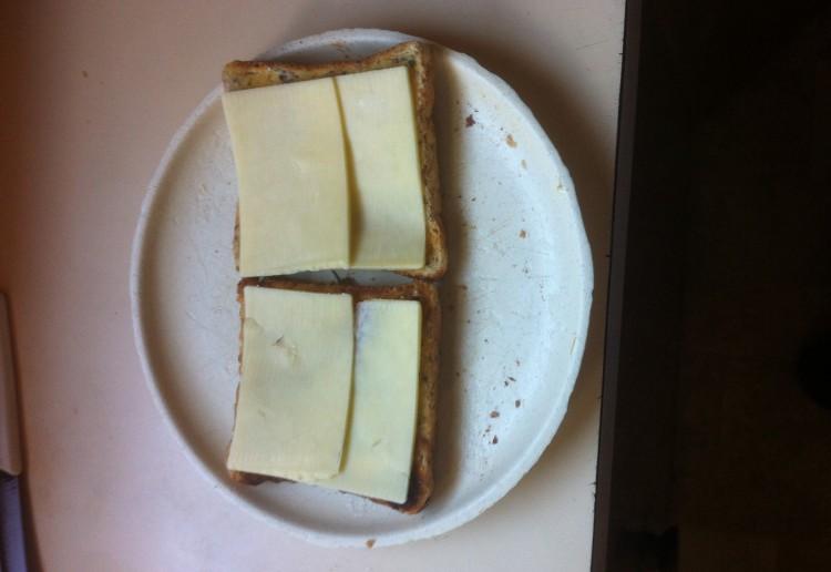 Simple cheese on toast