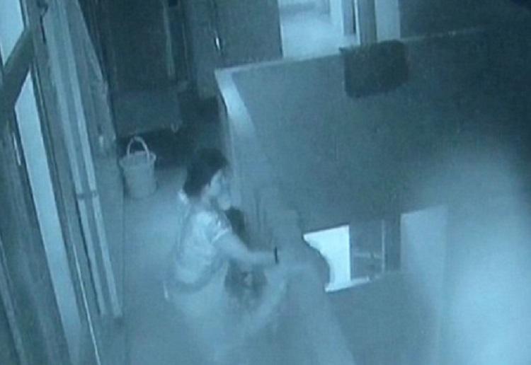 Horrifying moment aunt throws newborn nephew from third floor balcony