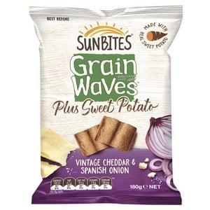 mom152736 reviewed Sunbites Grain Waves plus Sweet Potato Vintage Cheddar & Spanish Onion