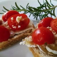 Cherry Tomato Camembert on Sourdough