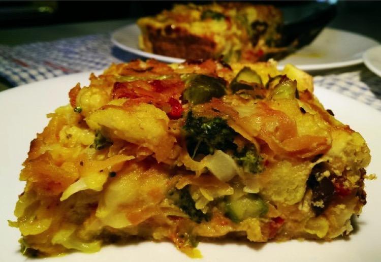 Quick veggie quiche