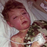 Mum shares how a deadly disease nearly took her sons life