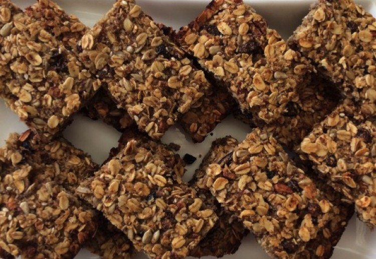 Natural Bircher Muesli Bars