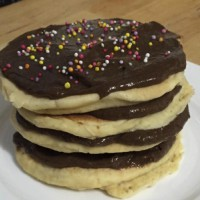 Chocolate pancake stack cake