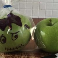 Halloween Frankenstein apples