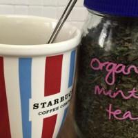 Home made mint tea