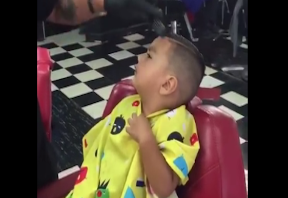 Video: How to keep kids calm at the hairdressers – or terrify them!