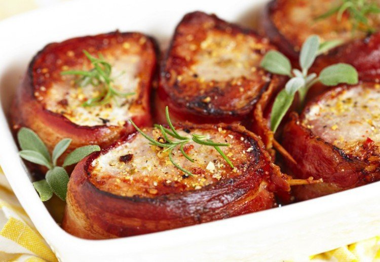 Pancetta Pork Loin with Lemon & Chilli Rub