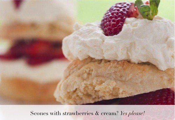 scones-with-strawberries-and-cream
