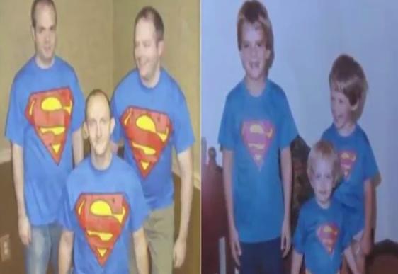 Hilarious childhood photos recreated