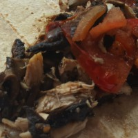 Roast chicken, Mushroom & Tomato Wrap